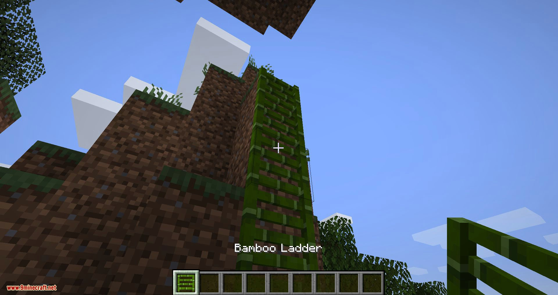 Bamboo Ladders mod for minecraft 01