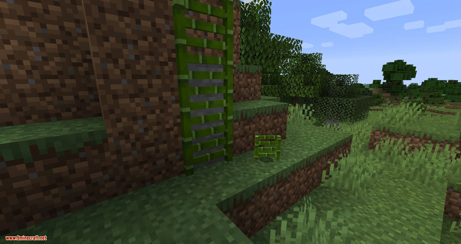 Bamboo Ladders mod for minecraft 03