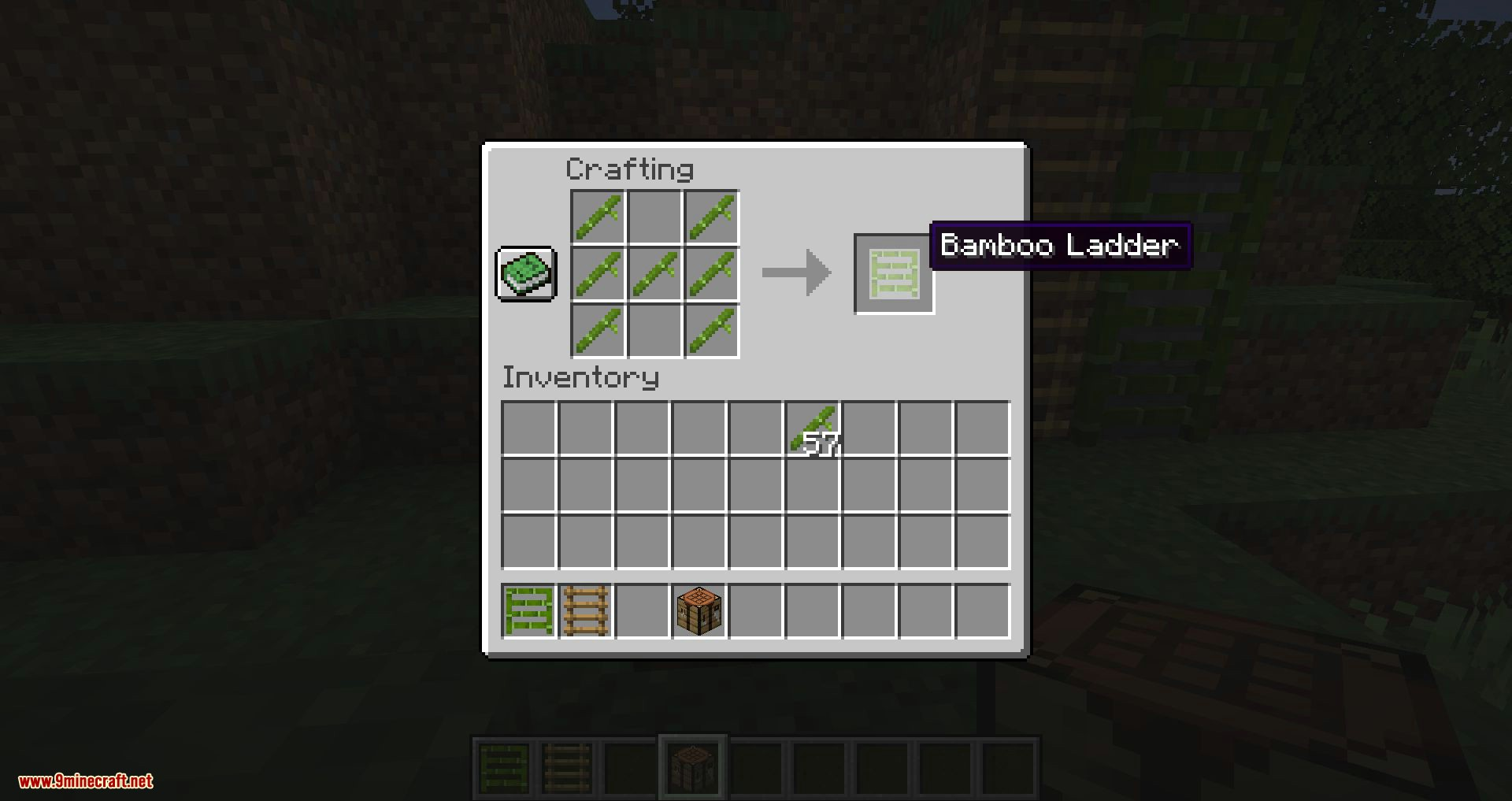 Bamboo Ladders mod for minecraft 06