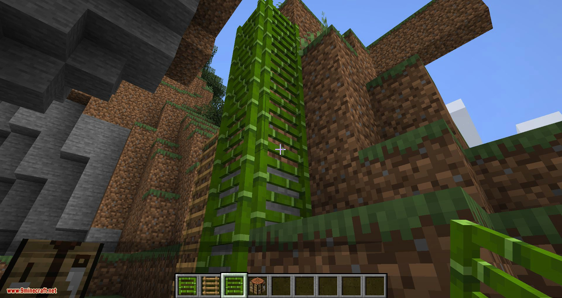 Bamboo Ladders mod for minecraft 07