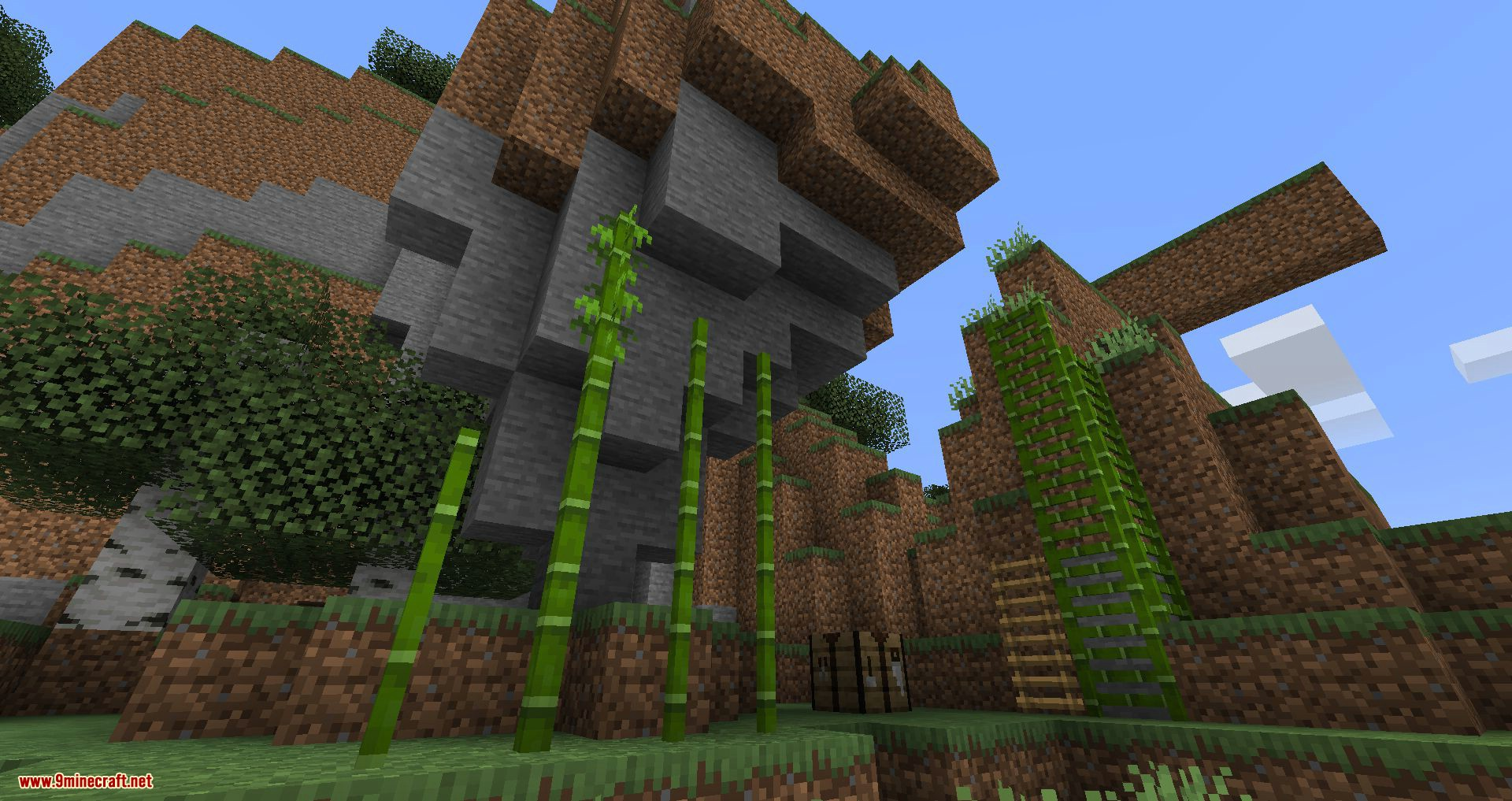 Bamboo Ladders mod for minecraft 09