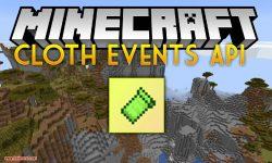 Cloth Events API mod for minecraft logo