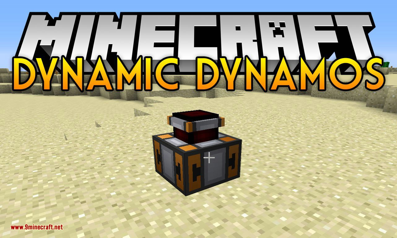 Dynamic Dynamos mod for minecraft logo
