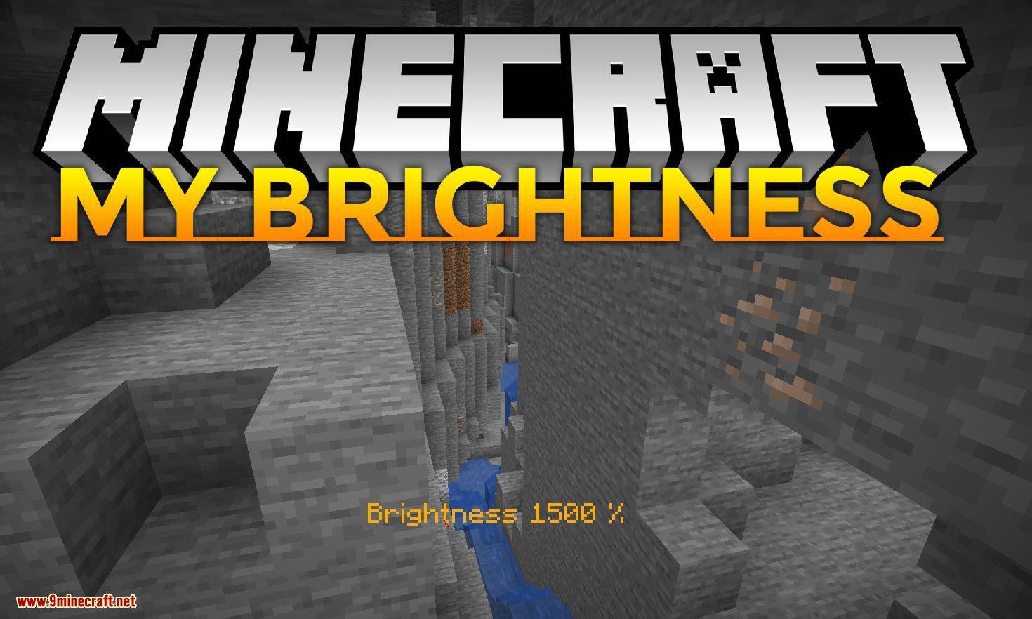 My Brightness mod for minecraft logo