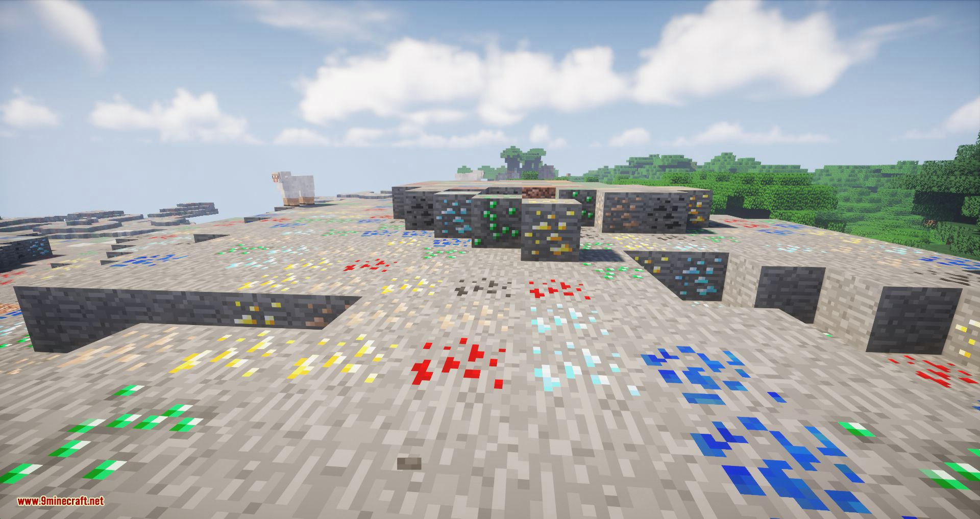 Ore Biome mod for minecraft 01