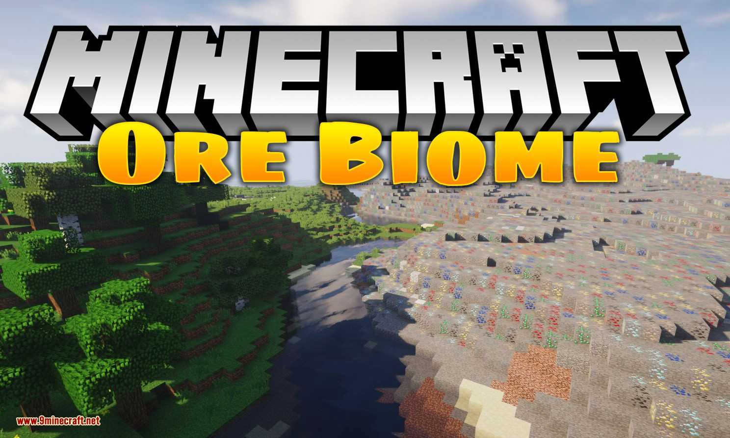 Ore Biome mod for minecraft logo