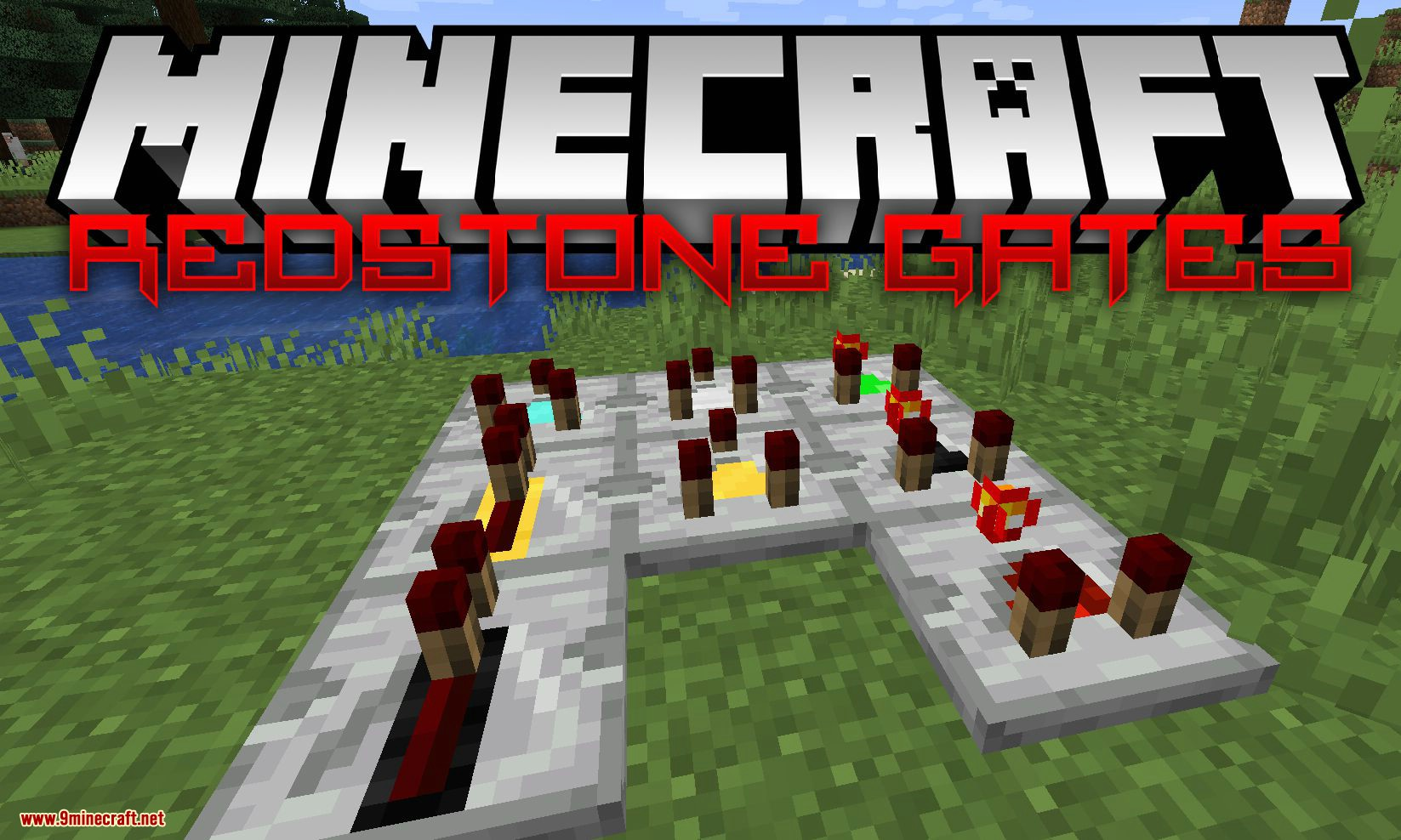 Redstone Gates mod for minecraft logo