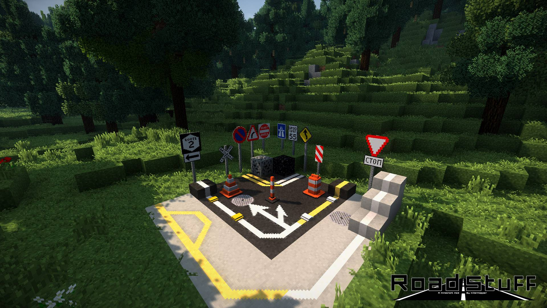 Road Stuffs 2 mod for minecraft 21