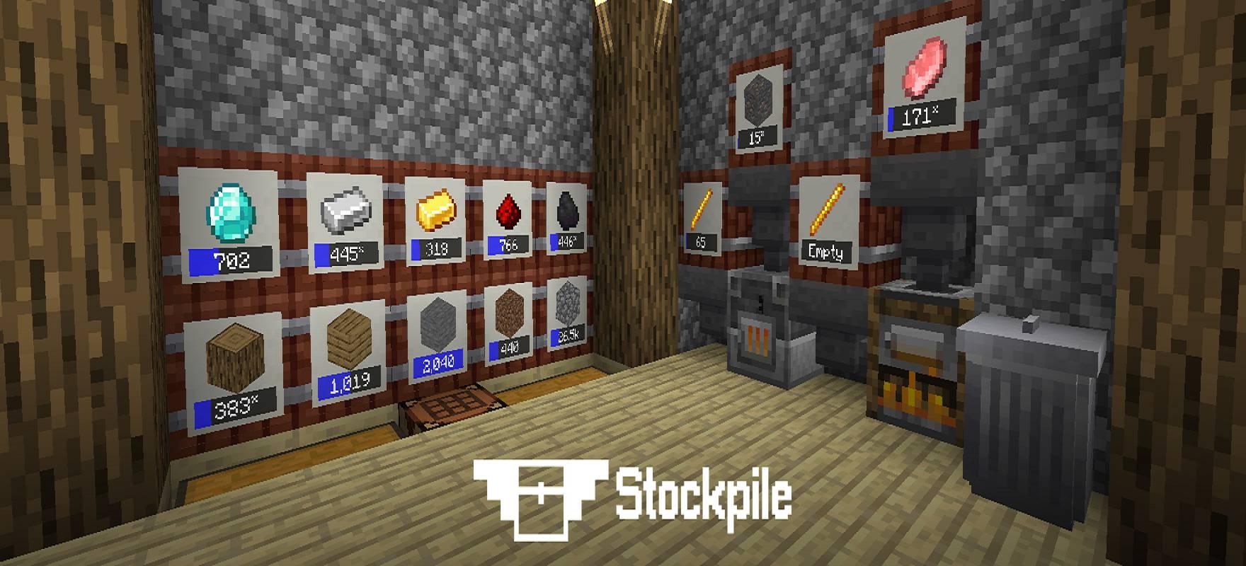 Stockpile mod for minecraft logo 01