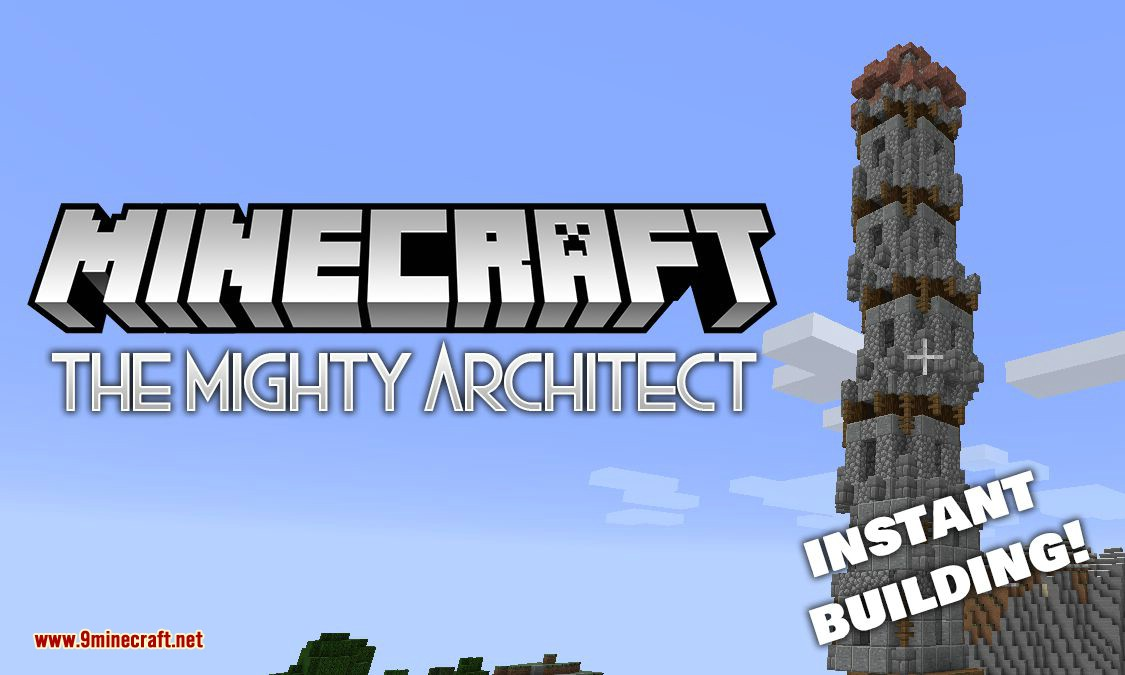 The Mighty Architect mod for minecraft logo