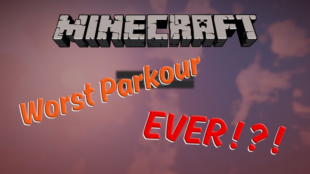 The Worst Minecraft Parkour Map Thumbnail