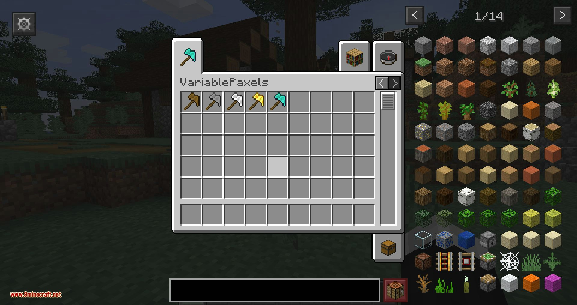 Variable Paxels mod for minecraft 01