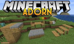 Adorn mod for minecraft logo