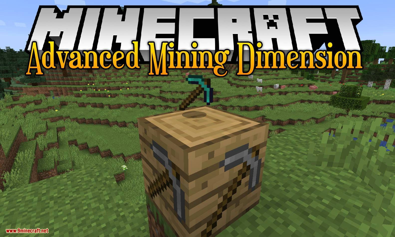 Advanced Mining Dimension mod for minecraft logo