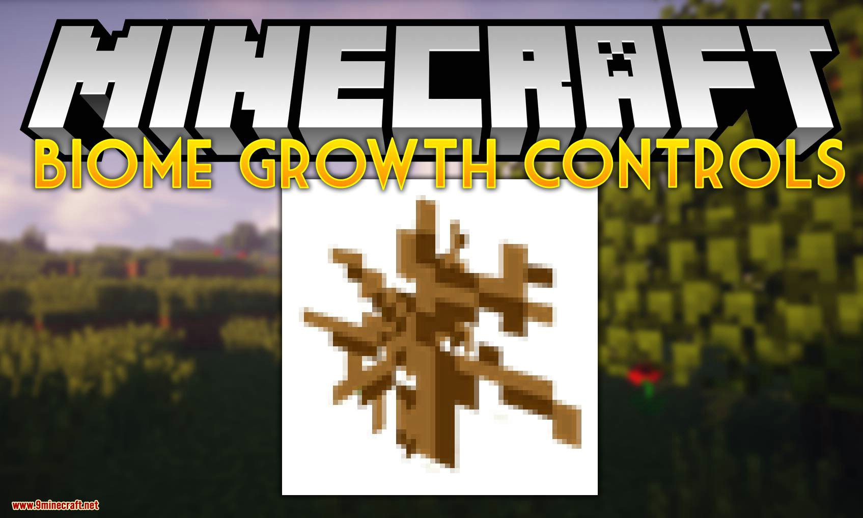Biome Growth Controls mod for minecraft logo