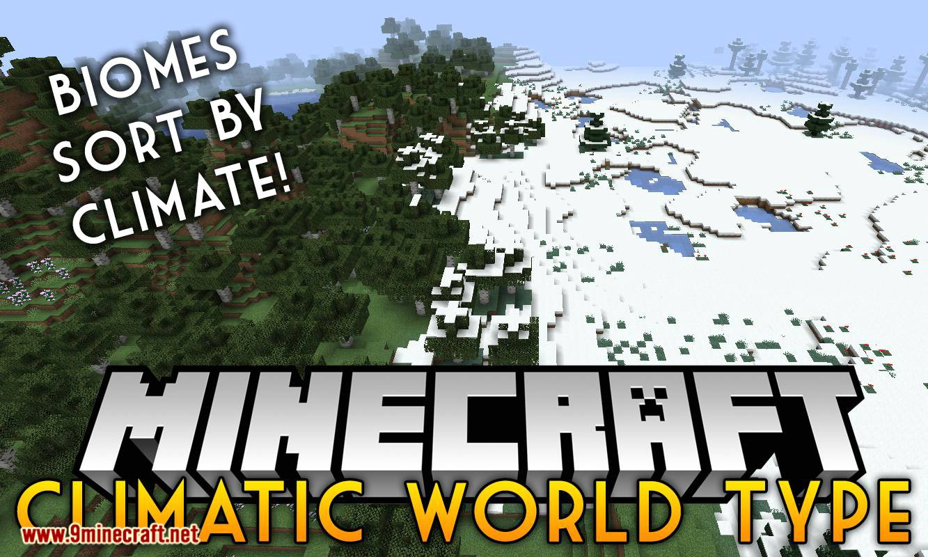 Climatic World Type mod for minecraft logo
