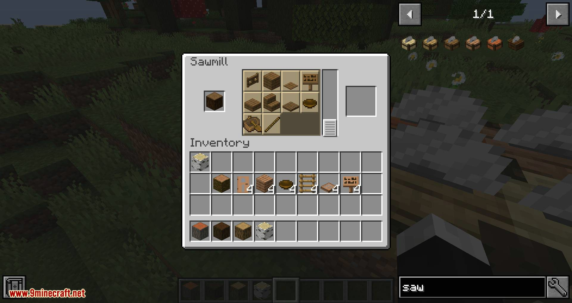 Corail Woodcutter mod for minecraft 09