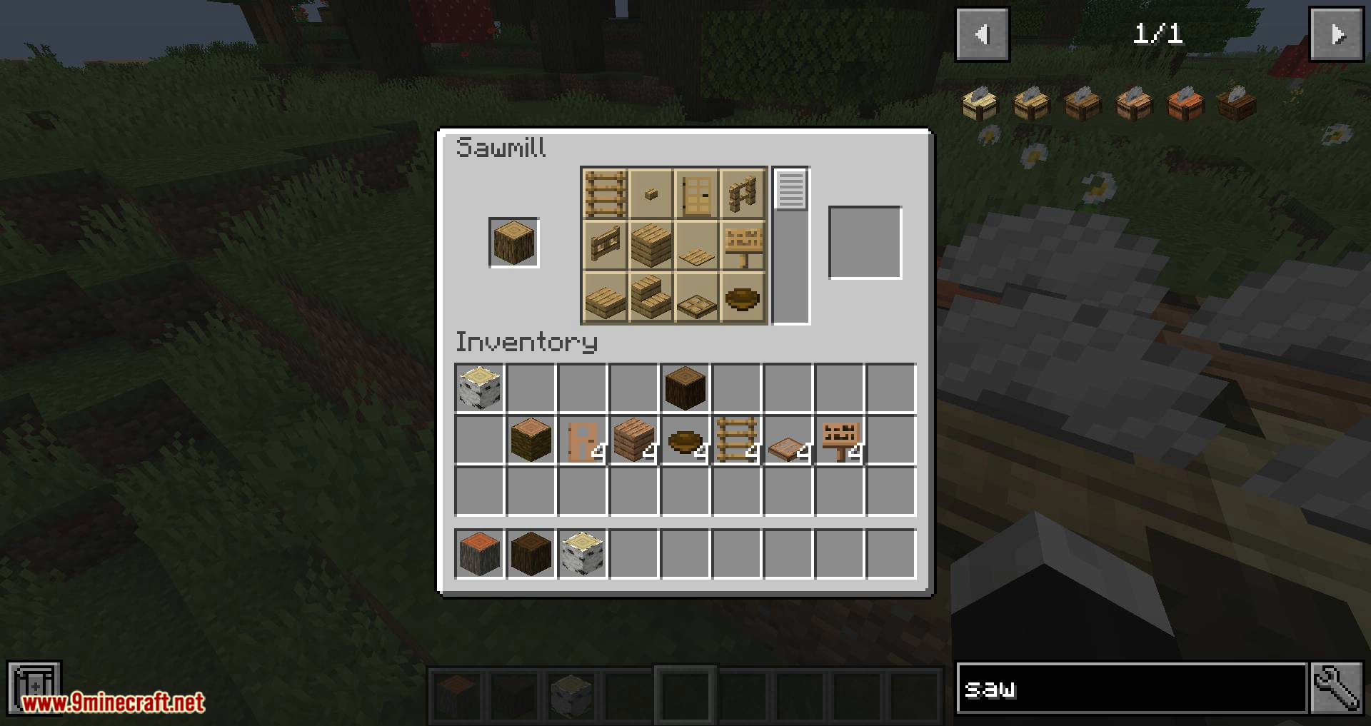 Corail Woodcutter mod for minecraft 10