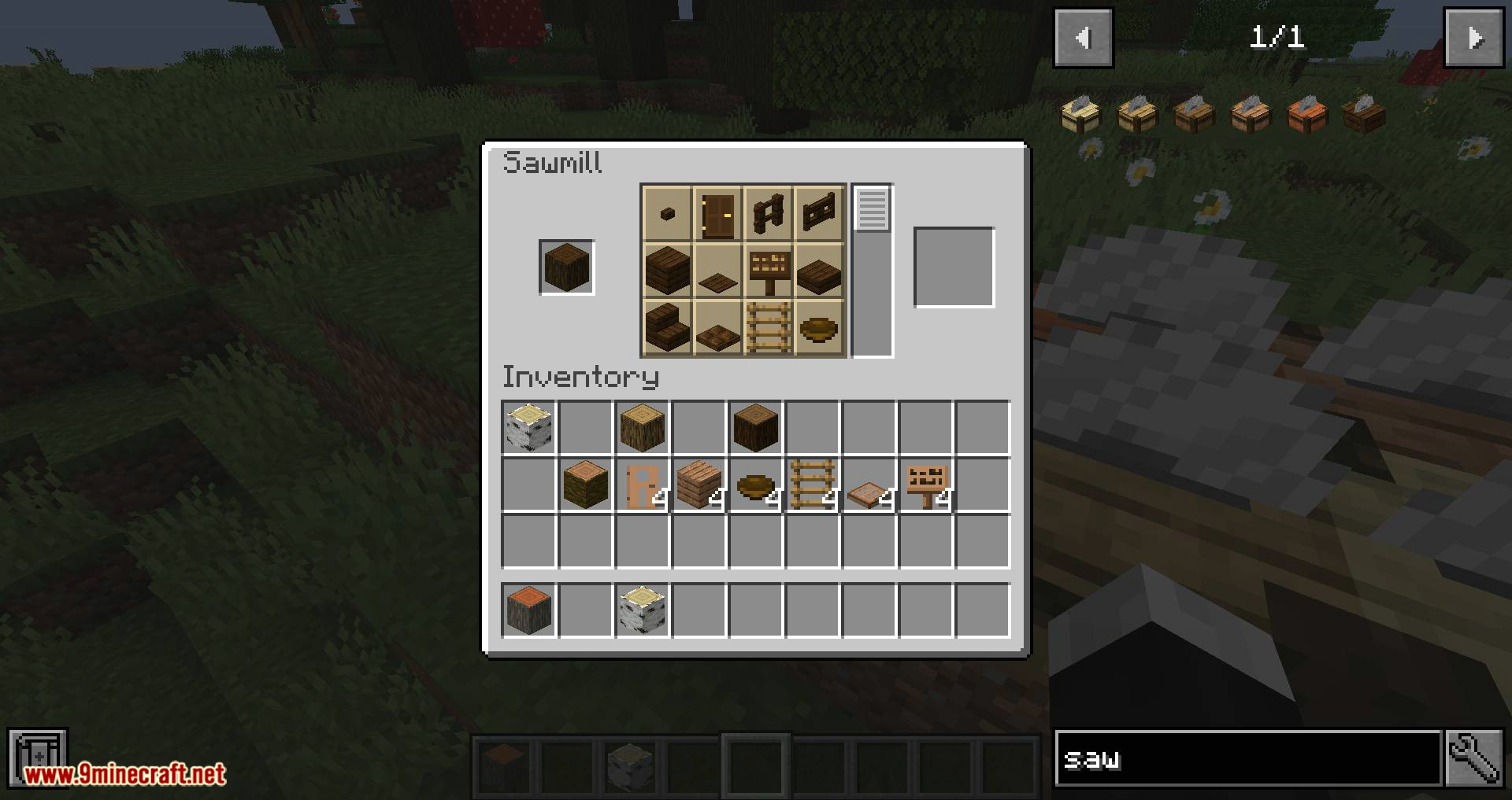 Corail Woodcutter mod for minecraft 11
