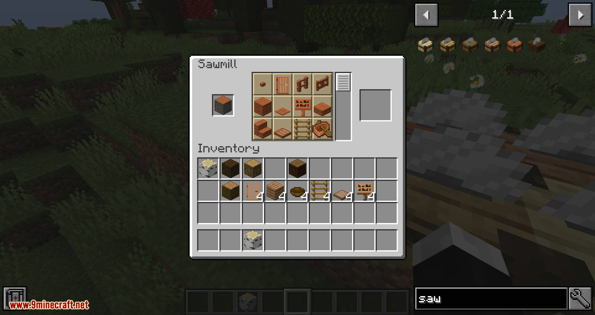 Corail Woodcutter mod for minecraft 12