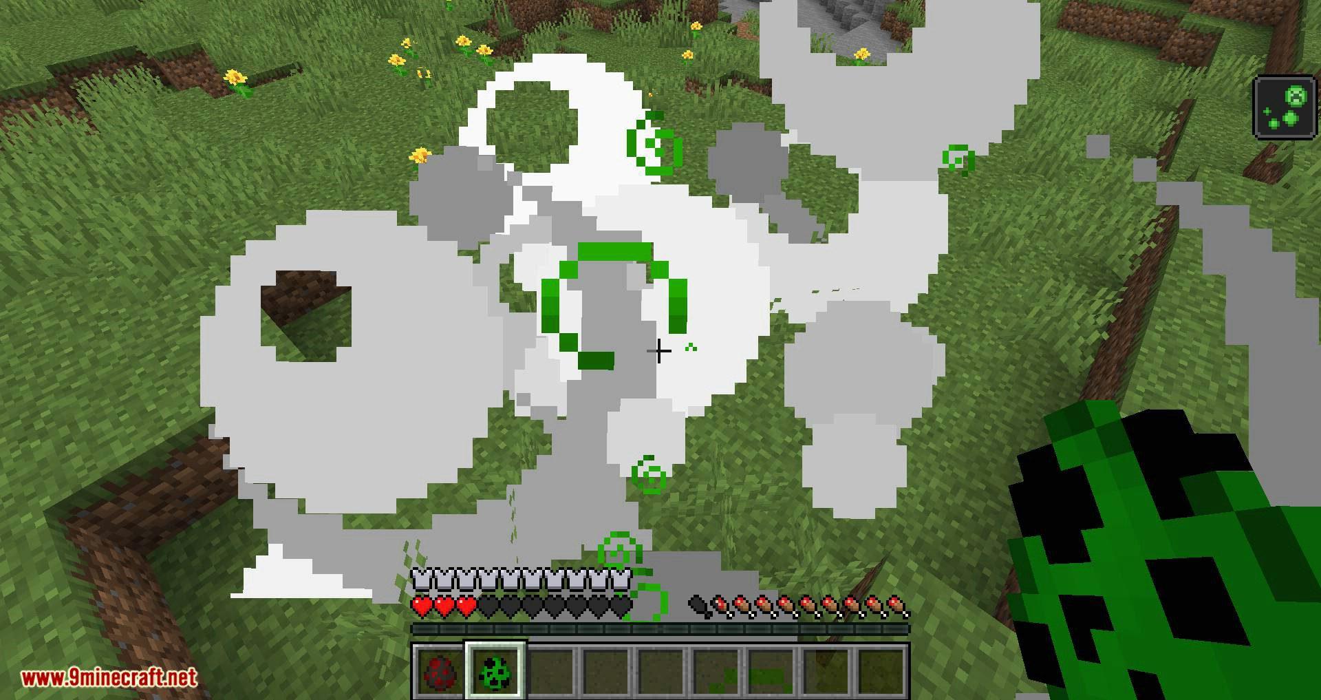 Creeper Spores mod for minecraft 10