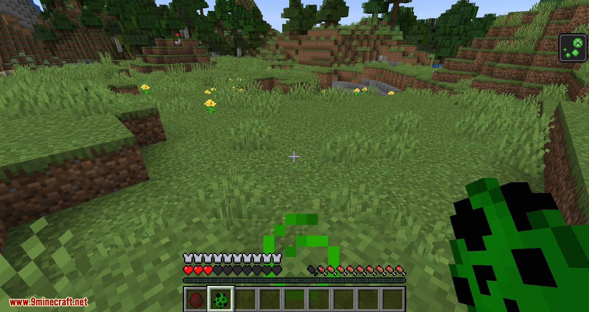 Creeper Spores mod for minecraft 11