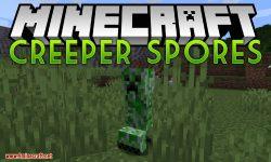 Creeper Spores mod for minecraft logo