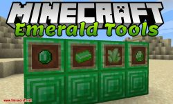 Emerald Tools mod for minecraft logo