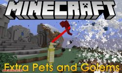 Extra Pets and Golems mod for minecraft logo