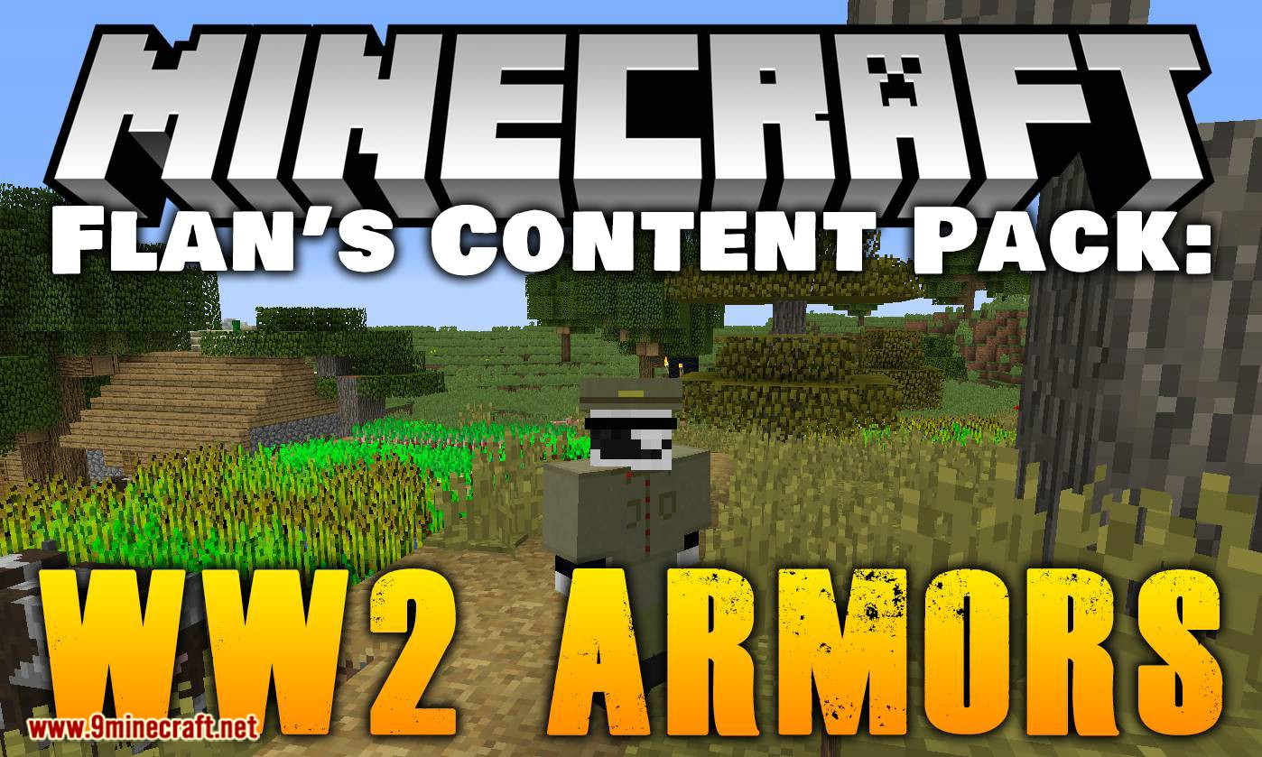 Flan_s Content Pack WW2 Armors mod for minecraft logo