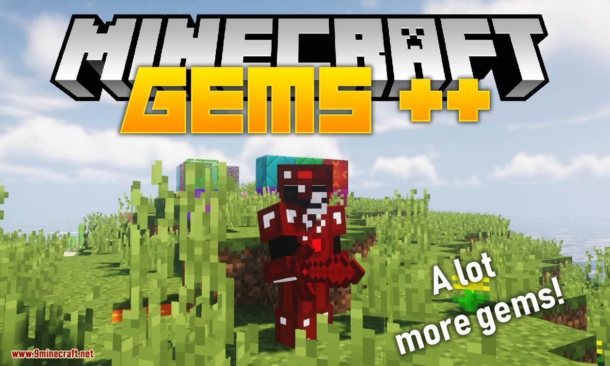 Gems Plus Plus mod for minecraft logo