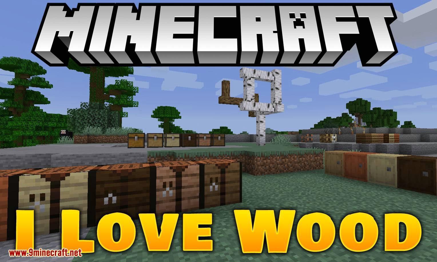 I Love Wood mod for minecraft logo