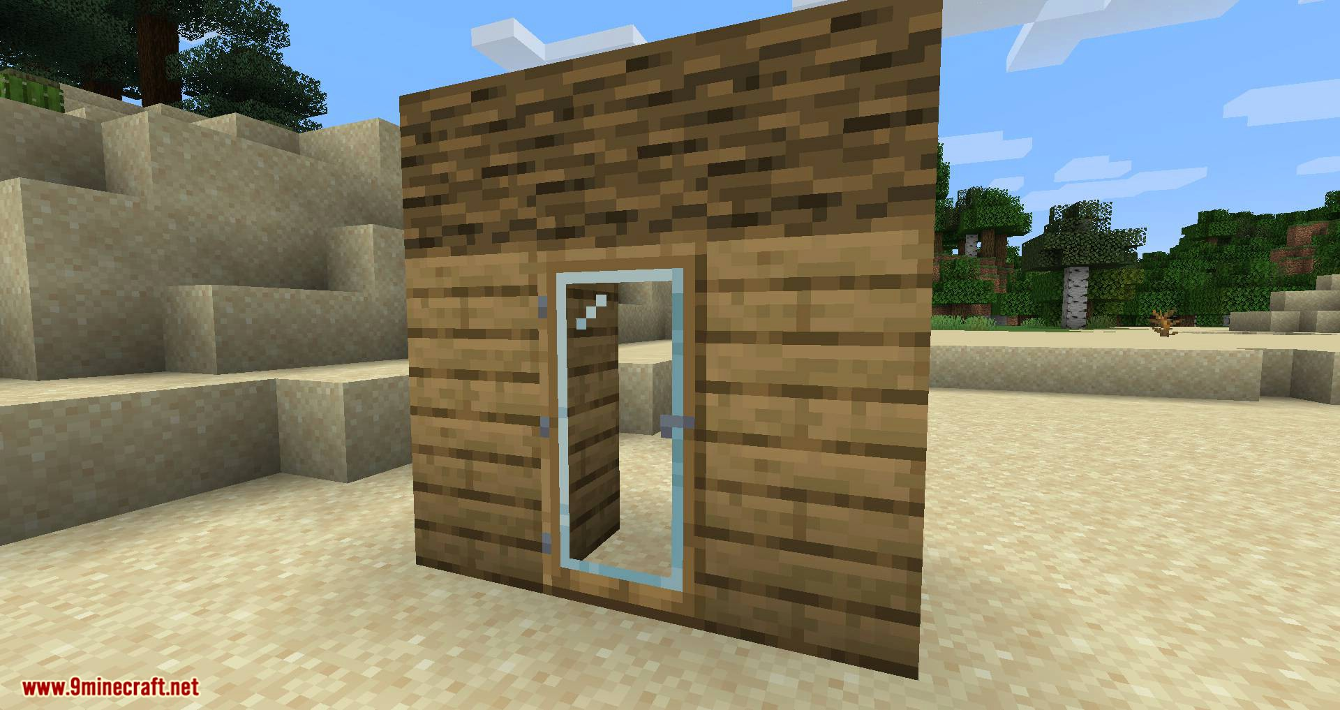 Modern Glass Doors mod for minecraft 01
