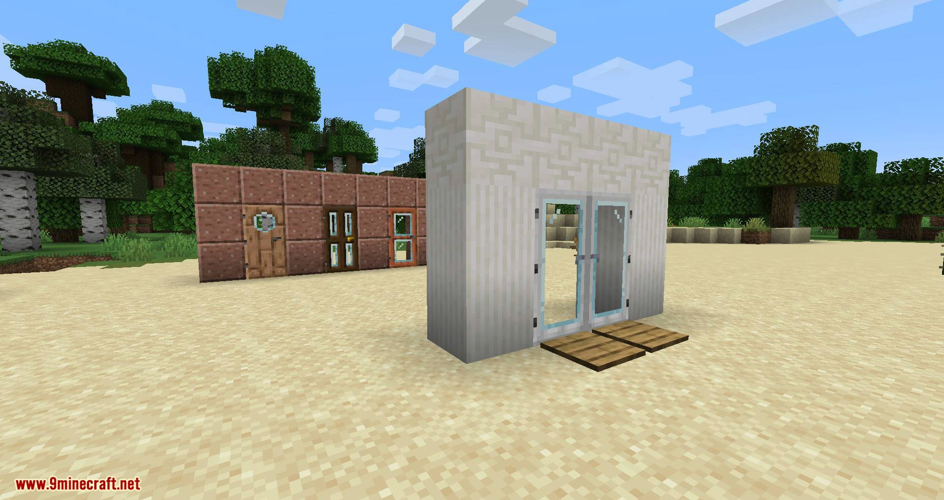 Modern Glass Doors mod for minecraft 10