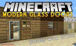 Modern Glass Doors mod for minecraft logo