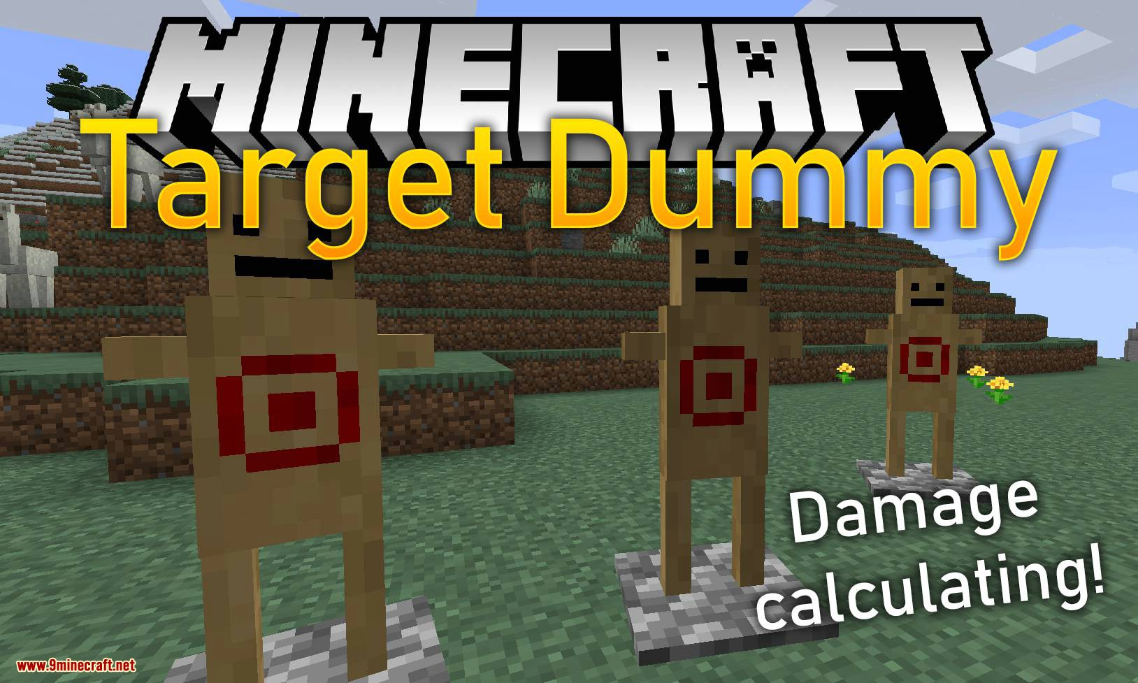Target Dummy mod for minecraft logo