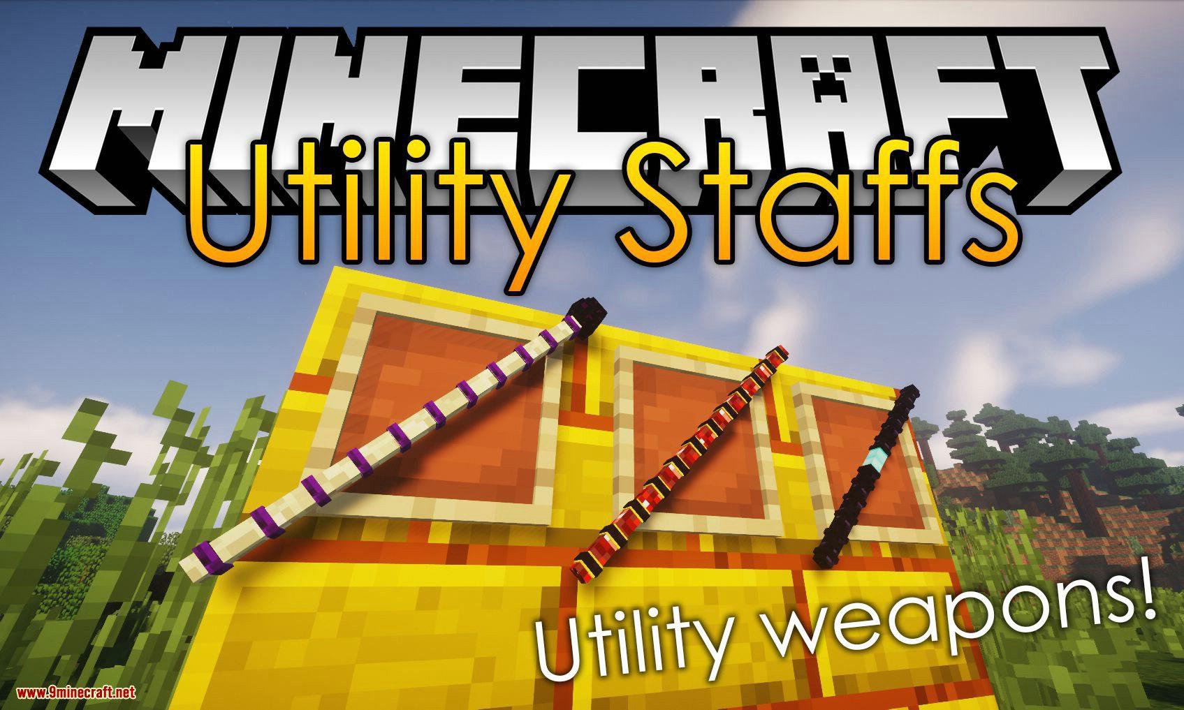 Utility Staffs Mod for minecraft logo