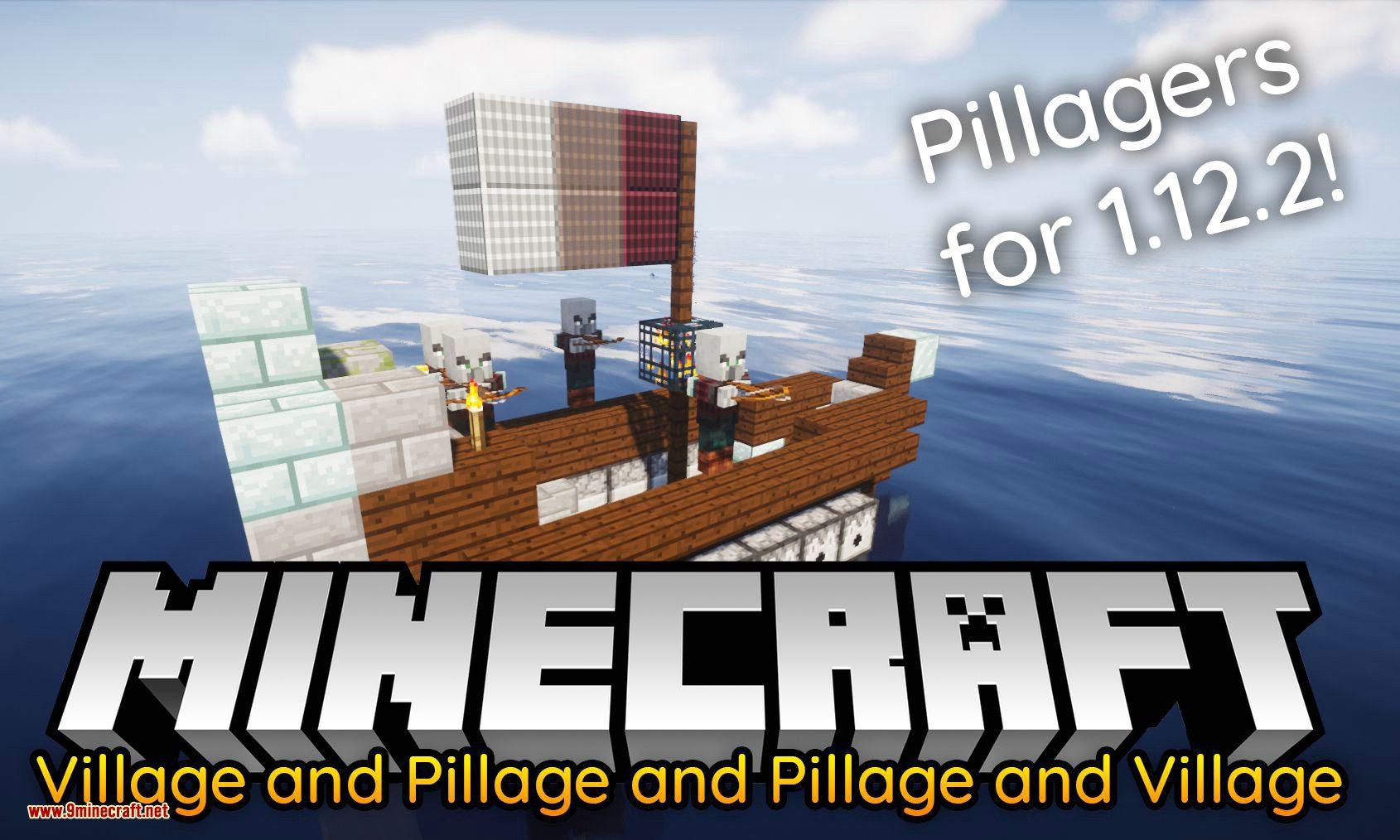 Village and Pillage and Pillage and Village mod for minecraft logo