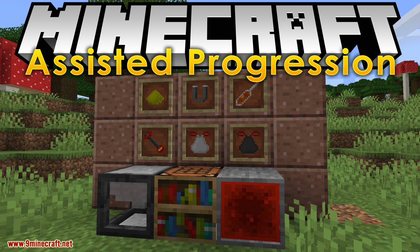 Assisted Progression mod for minecraft logo