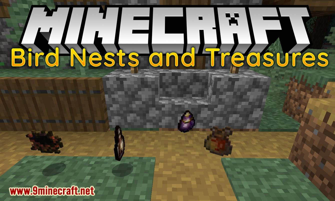 Bird Nests and Treasures mod for minecraft logo