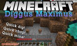 Diggus Maximus mod for minecraft logo