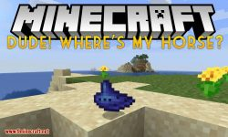 Dude Where_s My Horse mod for minecraft logo