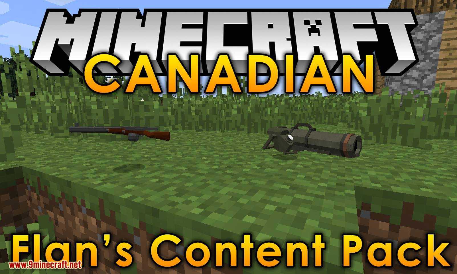 Flan_s Content Pack CANADIAN mod for minecraft logo