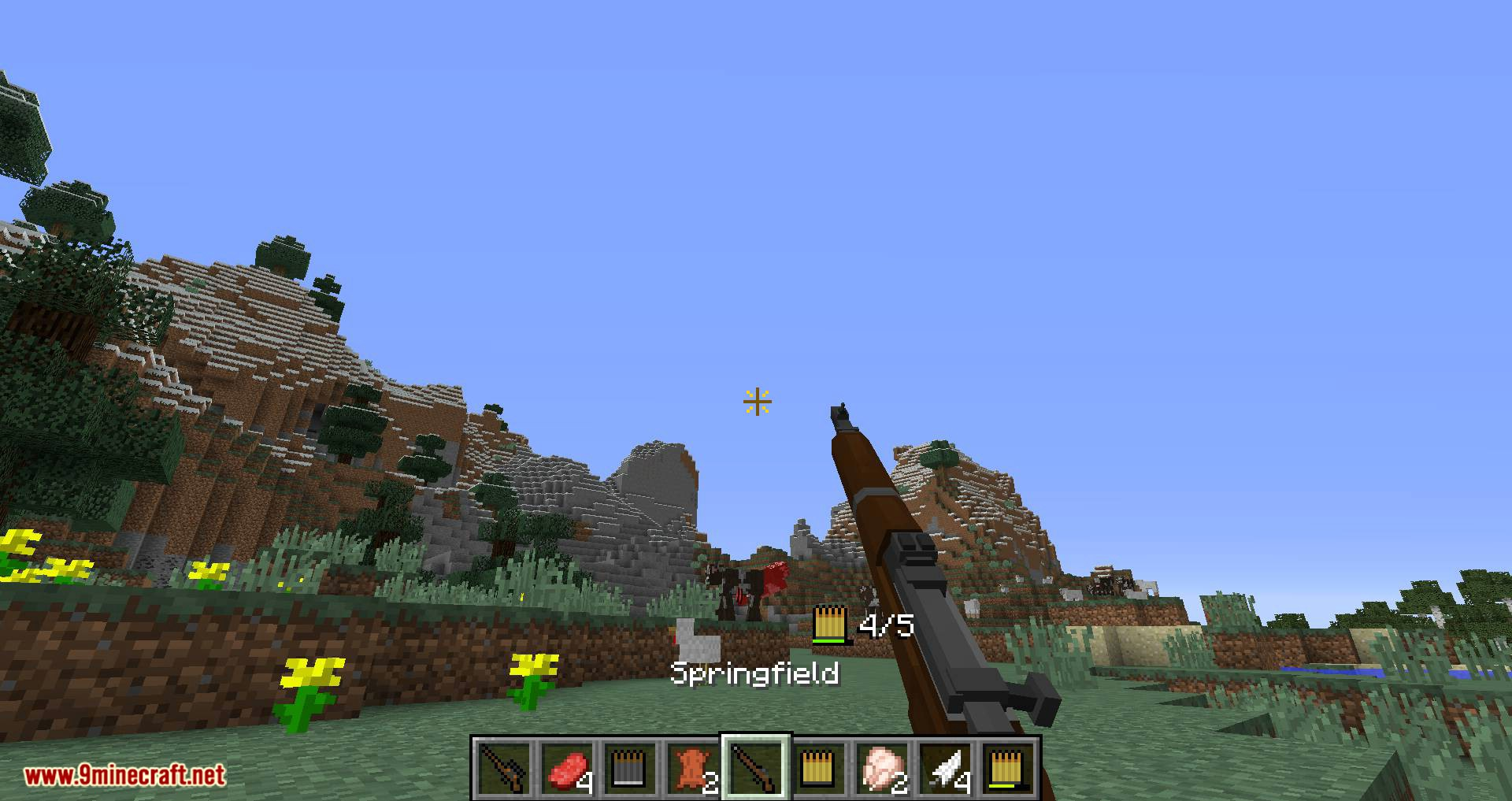 Flan_s Content Pack Call of Duty 2 Bolt-Action Rifles mod for minecraft 07