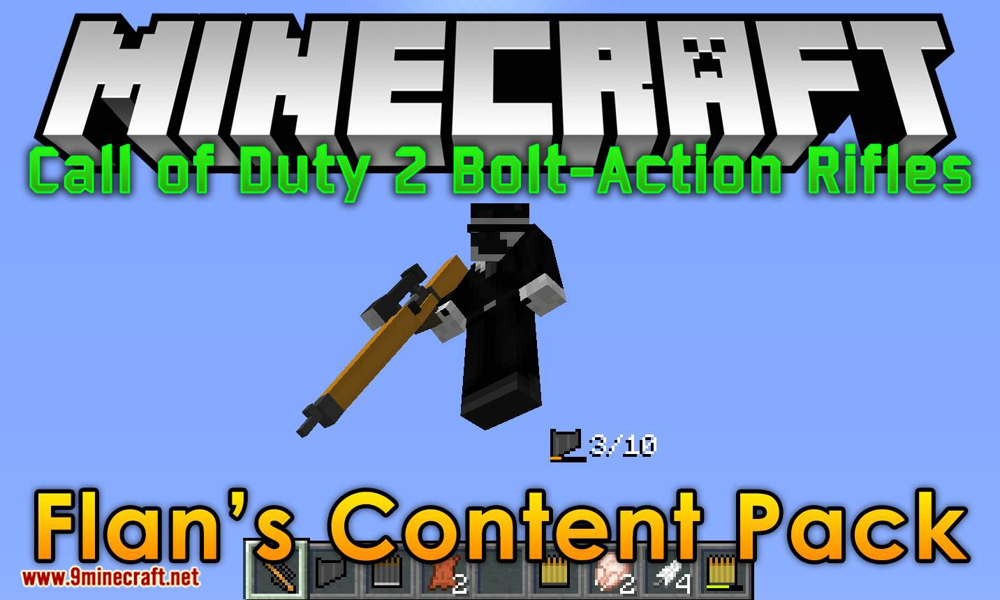 Flan_s Content Pack Call of Duty 2 Bolt-Action Rifles mod for minecraft logo