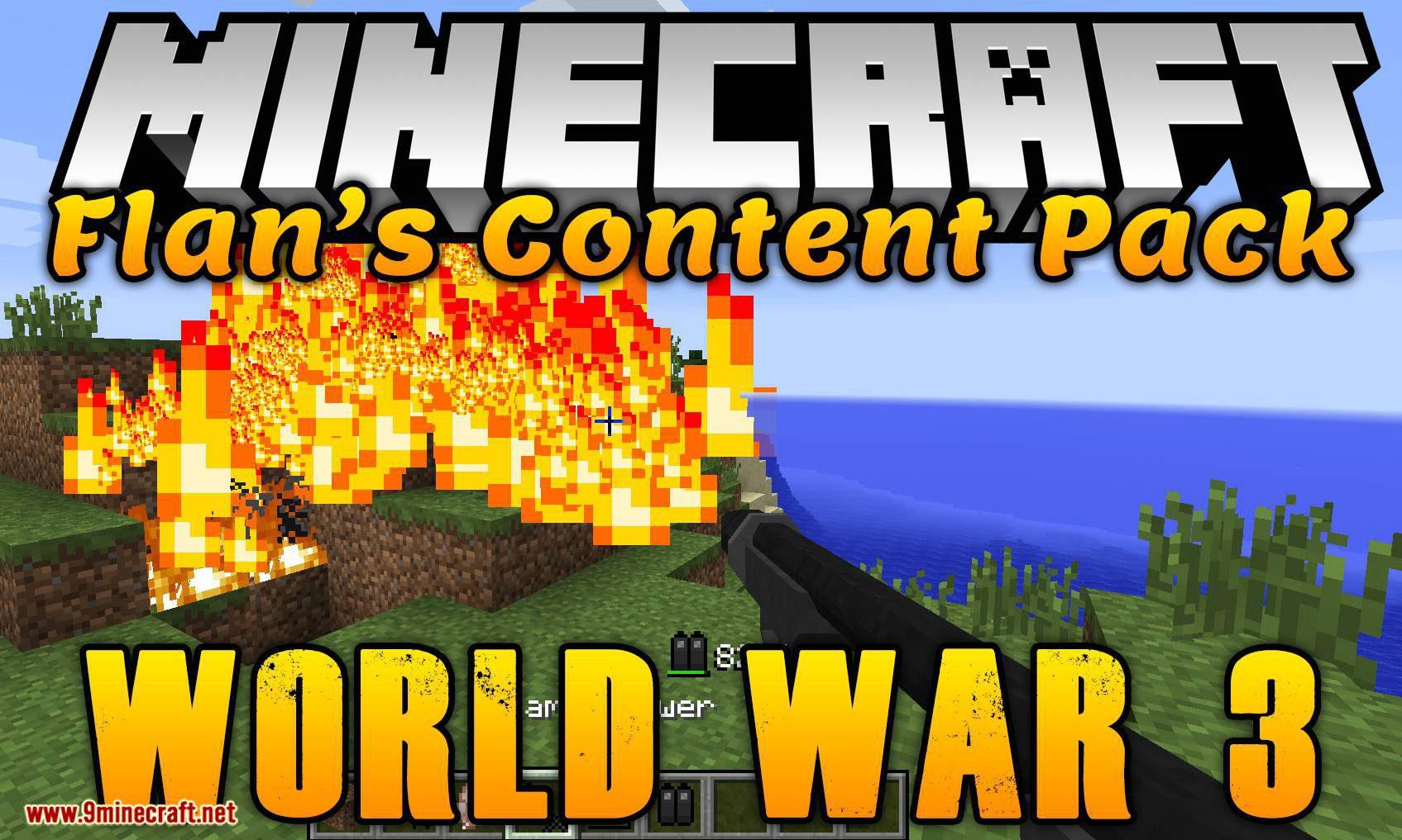 Flan_s Content Pack World War 3 mod for minecraft logo
