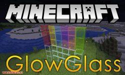Glowglass mod for minecraft logo