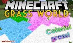 GrassWorld mod for minecraft logo