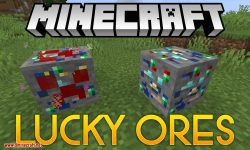 Lucky Ores mod for minecraft logo