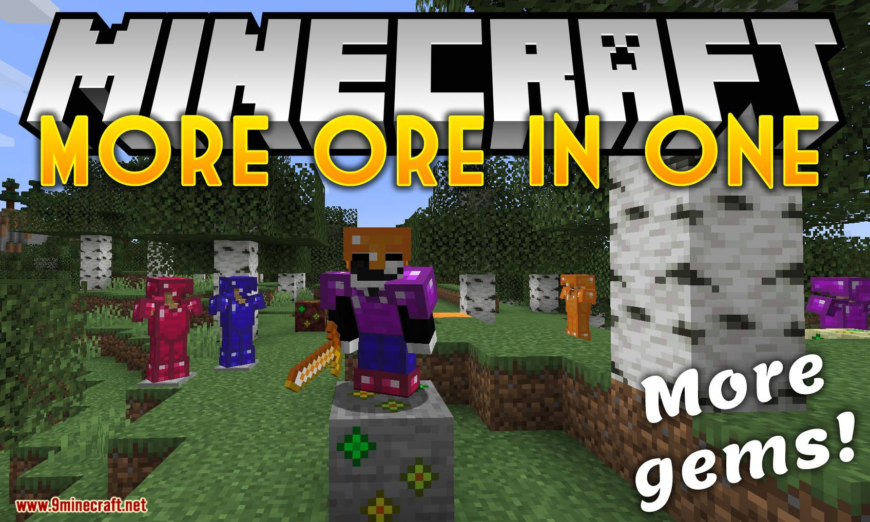 More Ores In ONE Mod 100.1006.100/100.1005.10 (Ores in the Overworld, Nether